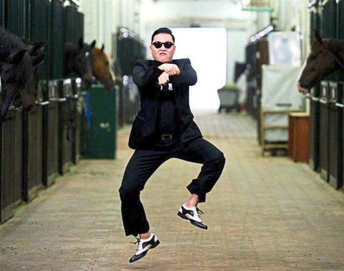Psy attracted attention with his slimmer body